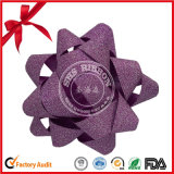 PVC Glitter Plastic Ribbon Star Bow for Christmas Decoration