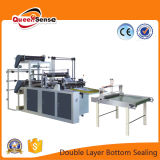 Double Layer Bottom Sealing Cold Cutting Plastic Bag Machine