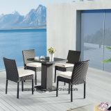 Outdoor furniture Supplier Cheap Restaurant Wicker K/D Dining Tables and Stackable Chairs by One Leg Table (YTA182&YTD836)