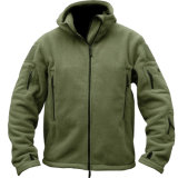 Outdoor Sportswear Men Polar Fleece Thermal Hiking Hoodie Jacket