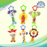 Cute Baby Toy Plush Toy Doll Put on Baby Stroller Ring Rocking Toy with En71 Certificate for Birthday/Christmas Gifts