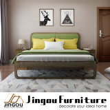 Modern Bedroom Furniture Set Bed with Solid Wood Frame for Home