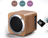Super Bass Portable 2.0 Channel Wooden Bluetooth Speaker with SD/USB/FM