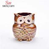 Ceramic Cartoon Owl Planter Flowerpot