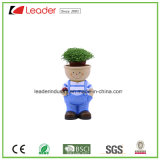 Decorative Polyresin Kid Boy Figurine Flowerpots for Home Decoration
