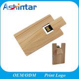 Swivel USB Pendrive Wood USB Stick Credit Card USB Flash Drive