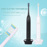 Electric Toothbrush, Sonic Rechargeable Electrical Toothbrushes for Adults with 2 Waterproof Replacement Brush Heads Powered Clean as Dentist, Black
