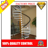 Stainless Steel Spiral Staircase with Wood Step