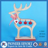 Wooden Reindeer with Jingle Bell for Christmas Decor