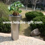 Fo-9028 Stainless Steel Flower Pot Tapered Garden Container