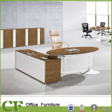 L Shape Melamine Office CEO Desk with Powder Coating Leg