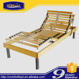 Eco-Friendly Slat Bed Electric Bed Adjustable Bed with Memory Foam Mattress