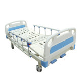 ABS Material Two Crank Two Function Manual Medical Bed with Aluminum Side Rail