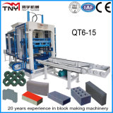 Automatic Qt6-15 Concrete Hollow Block, Solid Brick, Interlocking Paver Making Machine