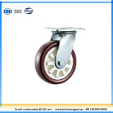 Heavy Duty Swivel Solid Double Ball Bearing Flat PU Caster