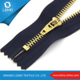 3# 4# 5# a/L C/E Gold Brass Teeth Metal Zipper for Jeans
