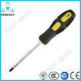 Non-Slip Soft Handle Cr-V Steel Screwdriver