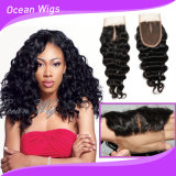 Deep Wave 8A New Unprocessed Cambodian Human Hair Middle Part Slik Top Lace Closure