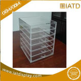 Clear Plastic Pamma Cosmetic Flooring Acrylic Display Stand with Drawers