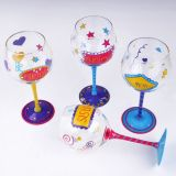 Hand Painted Glass Stemware Wine Glass