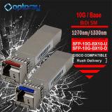 Cisco Compliant 10000m 10km SFP-10g-Lr Bidi Sing Fiber Transceiver Module