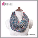 Winter Warm Fashion Flannel Multicolor Owls Printing Infinity Scarf (SNF206)