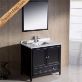 Furniture Manufacturer Solid Wood Single Basins Vanity Bathroom Cabinet