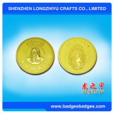 Wholesale High Quality Custom Gold Plating Metal Coin for Souvenir Gifts