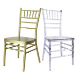 Stacking Metal Gold Plastic Dining Chiavari Chair for Wedding
