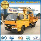 4*2 Jmc 3 Tons Crew Cab Truck Mounted with Crane