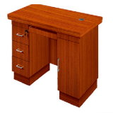Teak Wooden Home Office Small Computer Desk (HY-NO2)