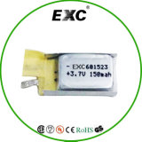 601523 3.7V 120mAh-150mAh Lithium Ion Battery