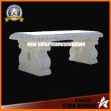 Cheap White Marble Rectangule Top Plate Stone Bench