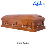Mahogany Veneer High Gloss Funeral Home Loved Casket and Coffin