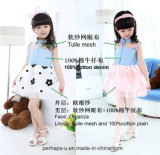 High Quality Girl's A-Line Dress with Embroidery Design
