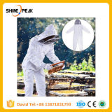 Beekeeper Hive Accossories White Cotton Beekeeping Jacket Veil Beekeeper Equipment Tools Hat Sleeve Suit with Hat XL XXL