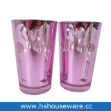 European Valentine's Day Flamingo Deisgn Pink Glass Candle Holders