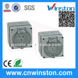 Three Phase 5 Round Pin Waterproof Socket with CE