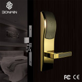 Bright Gold Elegant Electronic RF Card Door Lock for Star Hotel