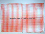 OEM Produce Custom Checks Jacquard Orange Cotton Terry Kitchen Tea Towels