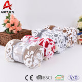 High Quality Double Layer Jacquard Coral Fleece Sherpa Blanket