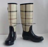 New Fashion Rubber Rain Boots, Ladies Rubber Boots, Women Printing Rain Boots