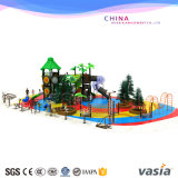 Park Amusement with Climber, Playground and Bench