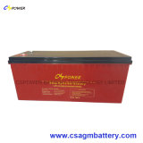 12V 200ah Chinese Supplier Gel Solar Storage Battery