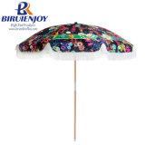 Top Quality Premium Digital Printing Customized Tassel Beach Umbrella 200cm