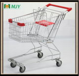 Zinc Plated Supermarket Shopping Cart Trolley Mjy-80A2