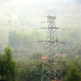 500kv Double Circuit Angle Power Transmission Steel Tower