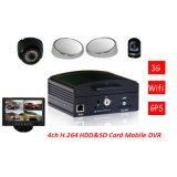 3G Vehicle Mobile DVR with GPS/WiFi Modules, H. 264 Video Compression, Used for Car/Truck/Tanker/Bus/Taxi,