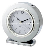 Stainless Steel Round Shape Table Alarm Clock