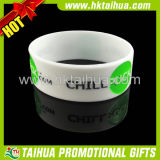 Wholesale Debossed Color Filled One Inche Silicone Bracelet (TH-band011)